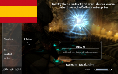 EnchantableBackstab - Spanish Translation