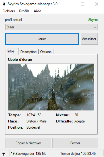 Main Screen in French