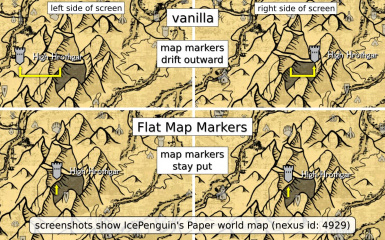 Flat Map Markers Fixed Marker Positions On 2d World Maps At Skyrim