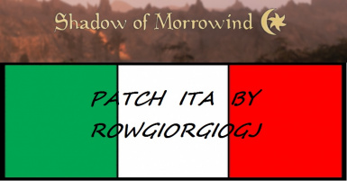 SHADOW OF MORROWIND PATCH ITA