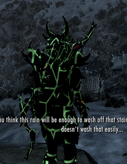 Daedric Armor Set Retextured GlowingGreen