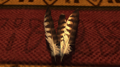 HD Hawk Feathers and Beak Mesh and Texture