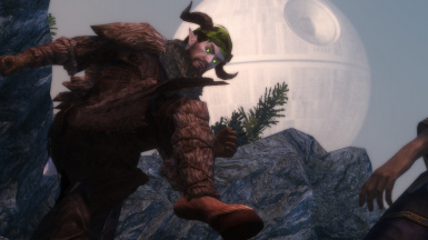 Satyr with glowing eyes and green hair ( preset is brown hair/blue eyes at default)