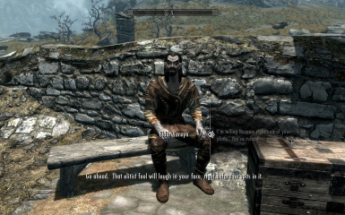 Eldar the Junk Salesman at Whitewatcher Tower in Whiterun Hold