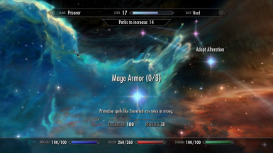 Mage Armor perk ignores equipped Armor