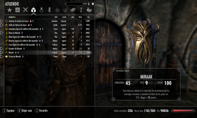 Miraaks Gear Overhaul spanish