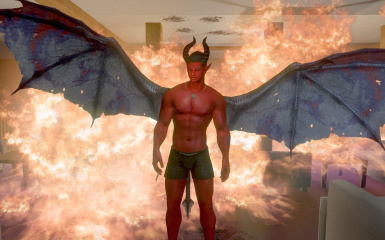 Ifrit with AMD Wings and EL Underwear