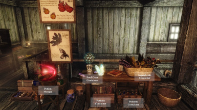 Ingredient chest and Potion Merger