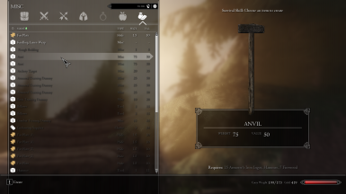 Craftable Anvil using Hammer Inventory icon model