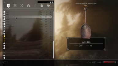 Craftable Smelter using Shovel inventory icon model