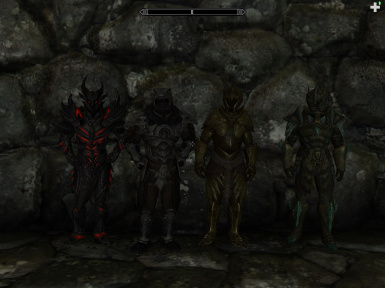 Daedric  Nordic  Elven and Glass animated armor