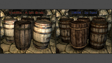 Barrels In-Game Comparison