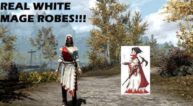 Real White Mage Robes (Female)