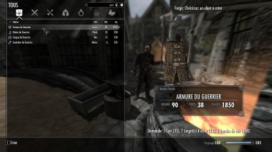 Dawnguard Light Armor converted in Heavy at Skyrim Nexus mods