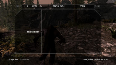 open quest menu and change settings