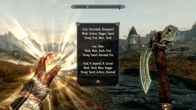 The Overview spell reveals the strengths and weaknesses of all armors