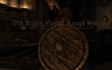 Old Rusty Nordic Round Shield