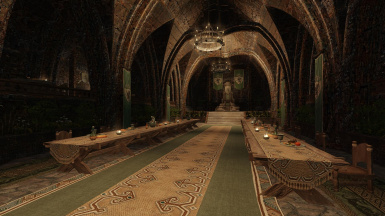 Dragonfall Castle desaturated banners and rugs 1