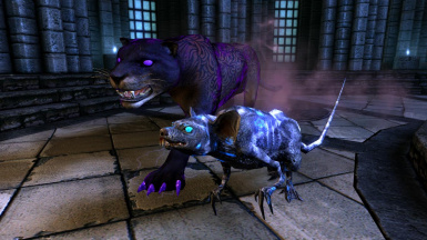 Daedrats and Dusk Panthers- Mihail Monsters and Animals (mihail immersive add-ons- azura- eso)