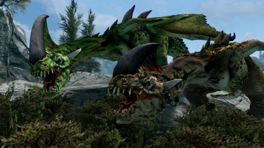 Dracolizards- Mihail Monsters and Animals (mihail immersive add-ons- witcher wyvern- dragon)