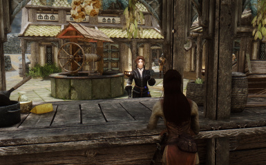 Mavis shopping in the Whiterun Markets