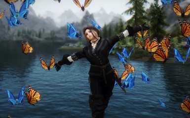 Dancing with butterflies