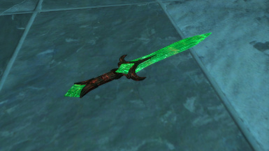 Ebony Glass Dagger of Scorching (no ENB) by Laoshan99