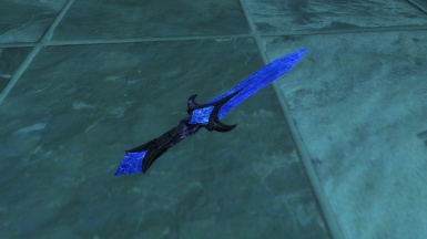Ebony Blue Glass Dagger of Shocks (no ENB) by Laoshan99