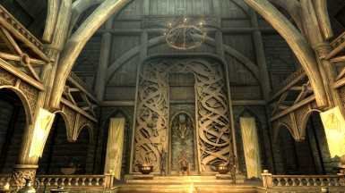 Nordic carving dragon throne wall at skyrim nexus mods