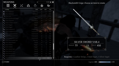 Silver Weapons Collection