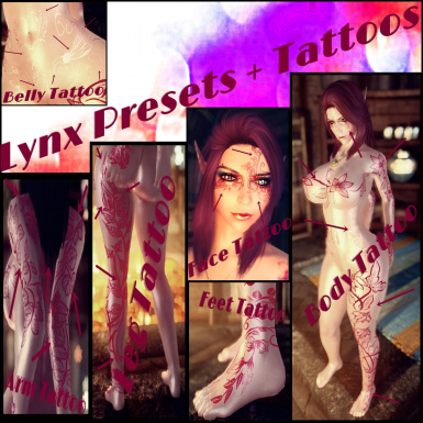 Lynx With Tattoos