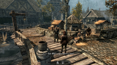 Interacting NPCs in Riften