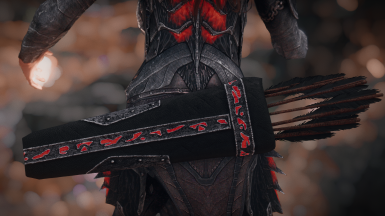 Glowing Daedric Arrows Revamped Texture 4k - 2k