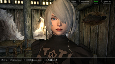 Yorha (2B) -  Face preset and head model (Racemenu - Only for race Nords)