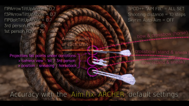 An example of accuracy with the Aim Fix ARCHER default settings