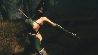 Akali Armour and Hairdo - UUNP UNPB w Physics and WIP CBBE conversion curvy  TBBP