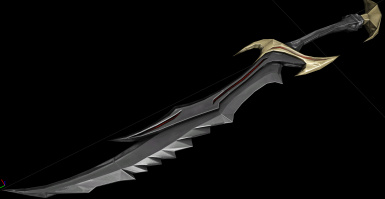 A preview of my new texture workflow and the results I am getting.  The upcoming Bloodscythe mod.  Yep, that is a Daedric sword model.