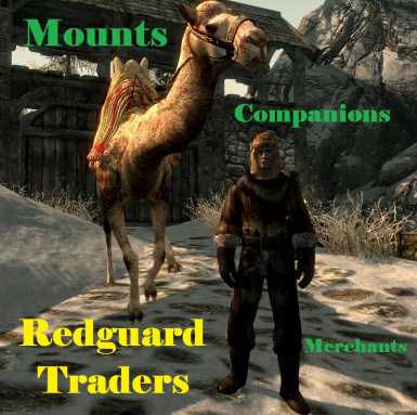 Redguard Traders with Mounts and Followers