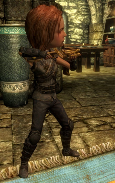 Aiming a crossbow