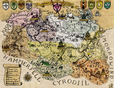 Skyrim Detailed Maps Images