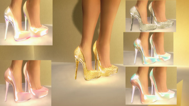 Shimmer Heels CBBE Nioverride with Heel Sound