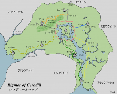 Cyrodiil Map