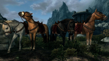 Cyrodilic Horses- Mihail Monsters and Animals (mihail immersive add-ons- witcher)