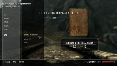Alex's Journal Of The Dragonborn