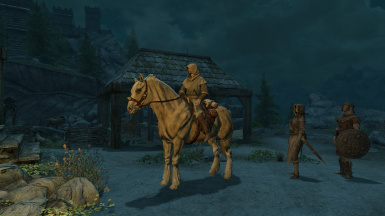 Horse Riding and combat still work perfectly!