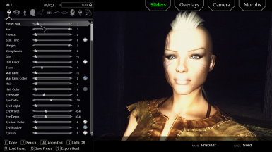 v240 with Racemenu and ENB plus Relighting Skyrim plus Further Dark Dungeons for ENB Portrait Light On