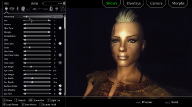 v240 with Racemenu and ENB plus Relighting Skyrim plus Further Dark Dungeons for ENB Portrait Light Off