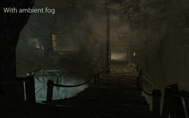 Embershed Mine with default ambient fog