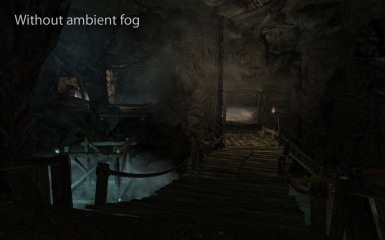 Embershed Mine without ambient fog - using this mod