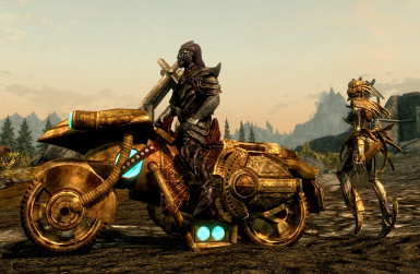 Dwarven Motorcycle and other Vehicles